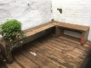 Scaffold board bench